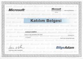 Bilgeadam_Sistem_Uzmanligi_Microsoft_Katilim_Sertifikasi
