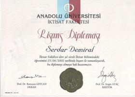 Eskisehir_Anadolu_Universitesi_Iktisat_Fakultesi_Mezuniyet_Belgesi