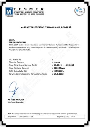 e-STAJYER Eğitimi Tamamlama Belgesi_300px